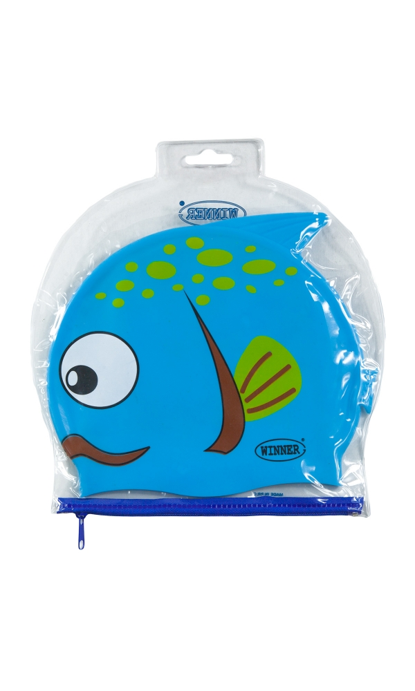 CARTOON CAP sky blue fish