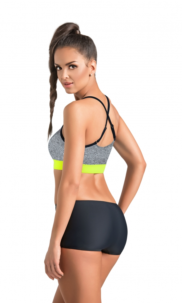 FITNESS BRA CLIMAline melange/bright yellow