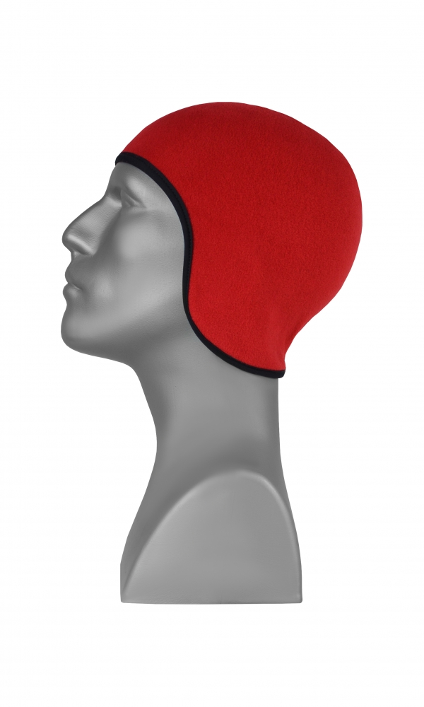 FLEECE HAT REVERSIBLE black/red