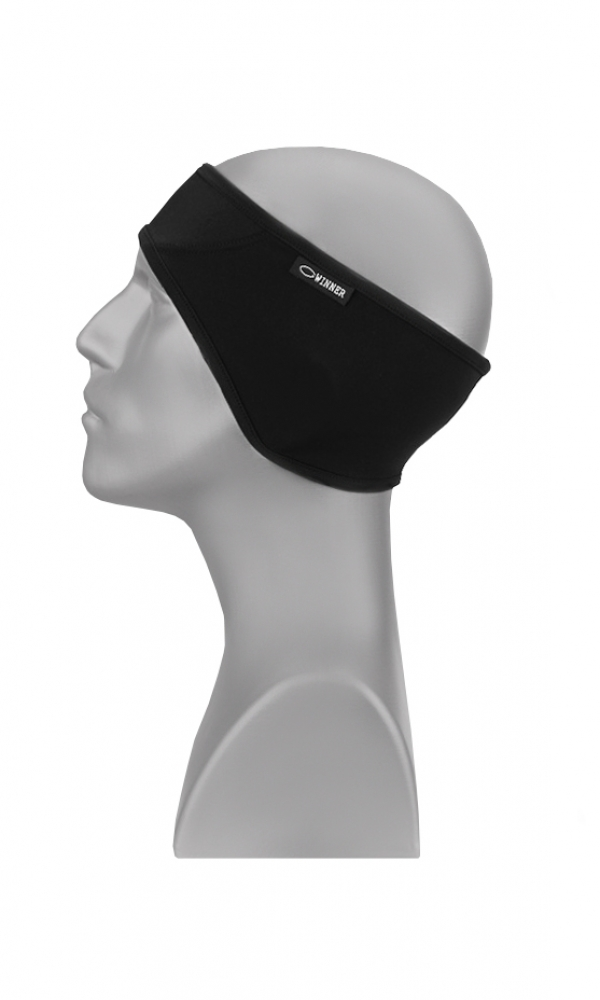 HEADBAND WITH MEMBRANE IN FRONT Serie A THERMOline black