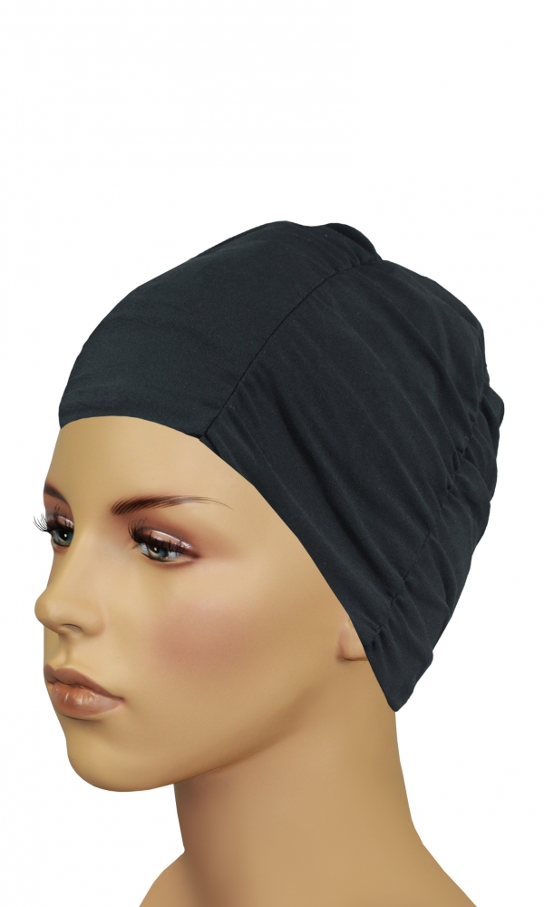 LADIES FABRIC BATHING CAP black