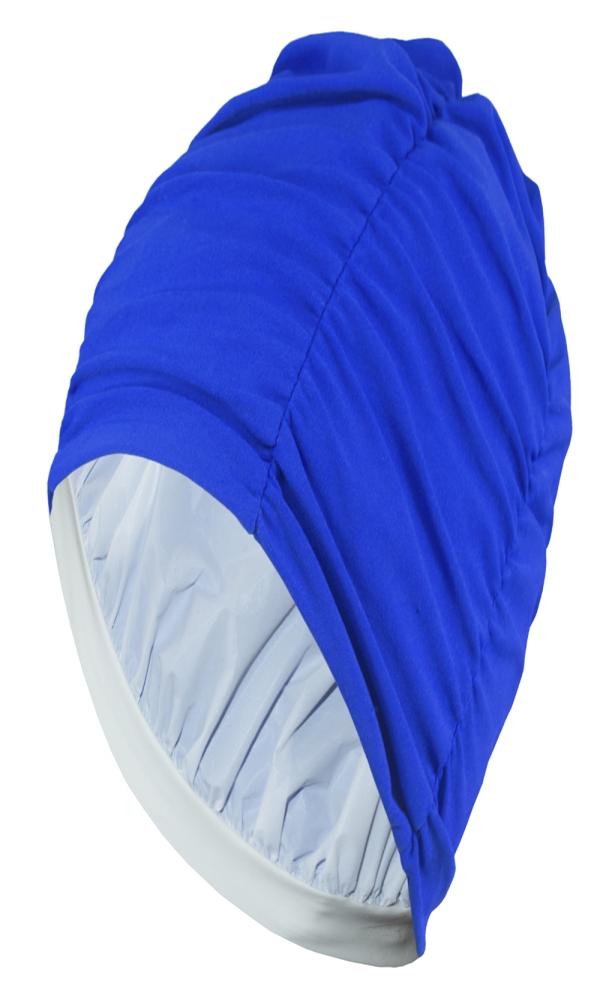 LADIES FABRIC BATHING CAP blue