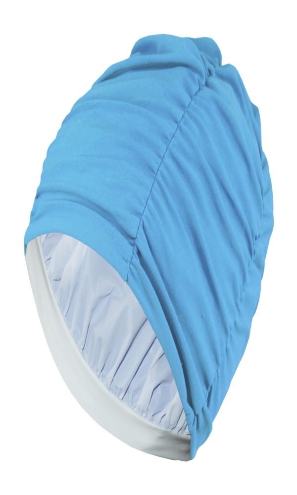 LADIES FABRIC BATHING CAP light blue